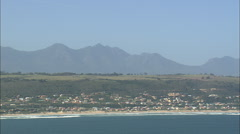 AERIAL South Africa-Outenique, Glentana And Coastline Stock Footage