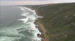 AERIAL South Africa-Fast Flight Past Vlees Bay To Franmanshoek Stock Footage