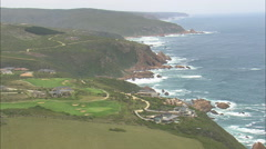 AERIAL South Africa-Luxury Houses On Coast At Knysna Stock Footage