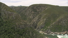 AERIAL South Africa-Bloukrans River And Bridge - Eastern & Western Cape Stock Footage