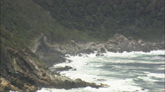 AERIAL South Africa-Elephant Rock On The Tsitsikamma National Park Coast Stock Footage