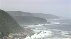 AERIAL South Africa-Storms River Mouth Rest Camp Stock Footage