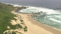 AERIAL South Africa-Coastline East Of Oobosstrand Stock Footage