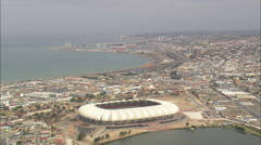 AERIAL South Africa-Nelson Mandela Stadium Stock Footage