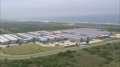 AERIAL South Africa-Mercedes Benz Plant Stock Footage