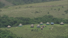 AERIAL South Africa-Hluleka Nature Reserve (West) Stock Footage