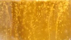 Glass full of beer slow moving 4K 3840X2160 UltraHD footage Stock Footage