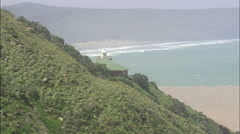 AERIAL South Africa-Port St Johns Lighthouse Stock Footage
