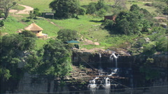 AERIAL South Africa-Lehr's Waterfall Stock Footage