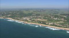 AERIAL South Africa-Coastline Around Hibberdene Stock Footage