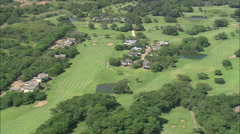 AERIAL South Africa-Umdoni Golf Course And Lynton Hall Stock Footage