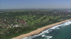 AERIAL South Africa-Scottburgh Stock Footage