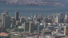 AERIAL South Africa-Durban Stock Footage