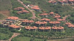 AERIAL South Africa-Zimbali Golf Resort At Ballito Stock Footage