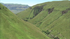 AERIAL South Africa-Valley Leading To Doreen Falls Stock Footage