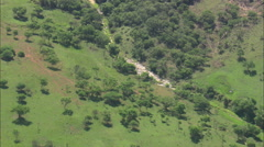 AERIAL South Africa-Private Game Farm Stock Footage