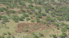 AERIAL South Africa-Gun Emplacements Overlooking Ladysmith Stock Footage