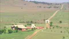 AERIAL South Africa-Blood River Boer Museum Stock Footage