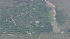 AERIAL South Africa-Berg-En-Dal Rest Camp Stock Footage