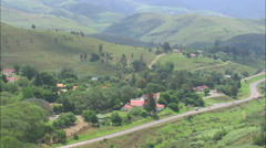 AERIAL South Africa-Pilgrims Rest Stock Footage