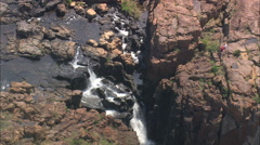 AERIAL South Africa-Bourke's Luck Potholes Stock Footage