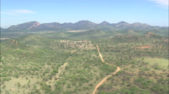 AERIAL South Africa-Rocky Landscape Stock Footage