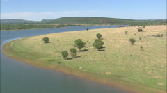 AERIAL South Africa-Hills Near Modimolle Stock Footage