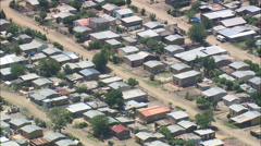 AERIAL South Africa-Wopnderkoppies Mining Village Stock Footage