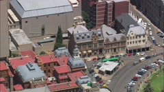AERIAL South Africa-Church Square Stock Footage