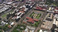 AERIAL South Africa-City Hall Stock Footage
