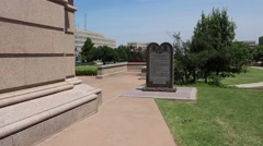 Stock Video Footage of Oklahoma State Capitol Ten Commandments