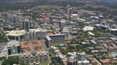 AERIAL South Africa-Sandton City - stock footage