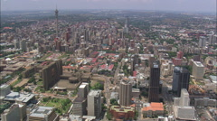 AERIAL South Africa-Johannesburg City Centre Stock Footage