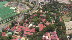 AERIAL South Africa-Gold Reef City Stock Footage