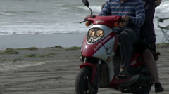 Scooter, Motorcycle, Beach, Ocean, Vacation, Holiday Arkistovideo