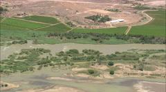 AERIAL South Africa-River Otange At Wegdraai Stock Footage