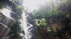 Mork-Fa waterfall Chaing Mai, Thailand Stock Footage