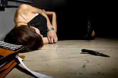 Female Murder Victim - stock photo