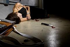 Bloody Female Murder Victim Stock Photos