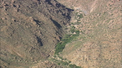 AERIAL South Africa-Landscape Near River Buffels Stock Footage