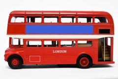Red bus isolated on white background Kuvituskuvat