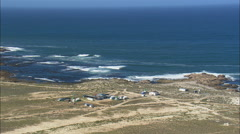 AERIAL South Africa-Approaching The West Coast Diamond Area - stock footage