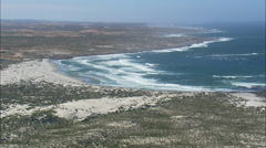 AERIAL South Africa-West Coast Diamond Area Stock Footage
