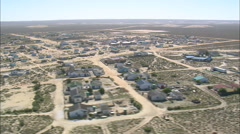 AERIAL South Africa-Hondeklipbaai And Abalone Factory Stock Footage