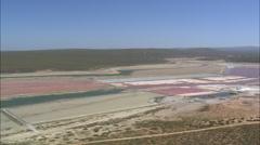 AERIAL South Africa-Sea Salt Plant Stock Footage