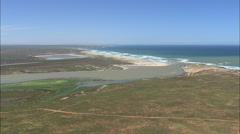 AERIAL South Africa-Coast And River Olifants Stock Footage