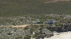 AERIAL South Africa-Holiday Homes And Coastline Stock Footage