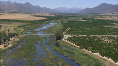 AERIAL South Africa-Citrusdal Stock Footage