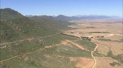 AERIAL South Africa-Swartland And Eendekuil Stock Footage