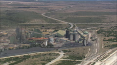 AERIAL South Africa-Saldanha Steel Plant Stock Footage